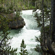 Yellowstone Waterfall Art Print