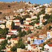 Yialos Town On Symi Island Art Print