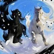Yin Yang Horse Art Print