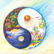 Yin Yang Spring And Autumn Art Print