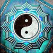 Yin Yang -  The Healing Of The Blue Chakra Art Print