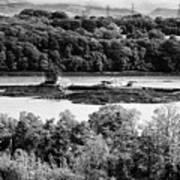 Ynys Gored Goch Island In The Menai Strait North Wales Uk Art Print