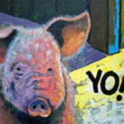 Yo Pig Art Print