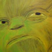 Yoda Selfie Art Print