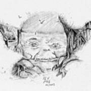 Yoda's Back Garden Art Print