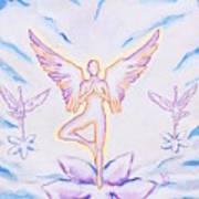 Yoga Angels  Art Print