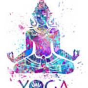 Yoga Meditation Watercolor Print Art Print