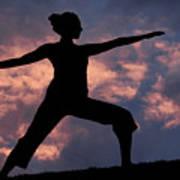 Yoga Sunset Art Print