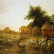 Yon Yellow Sunset Dying In The West Art Print