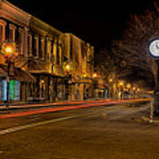 York South Carolina Downtown During Christmas Art Print