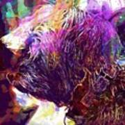 Yorkshire Puppy Domestic Animal  Art Print