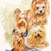 Yorkshire Terrier W/ghost Art Print