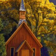 Yosemite Chapel Art Print