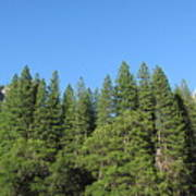 Yosemite Domes Art Print