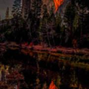 Yosemite Firefall 2015 Art Print