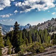 Yosemite Half Dome 0796 Art Print