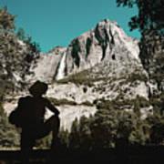 Yosemite Hiker Art Print