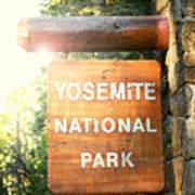 Yosemite National Park Sign Art Print