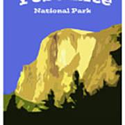 Yosemite Poster Art Print