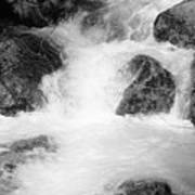 Yosemite Raging River Stream Art Print