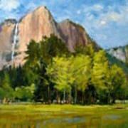 Yosemite - Ribbon Falls Art Print