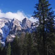 Yosemite Three Brothers In Winter Art Print