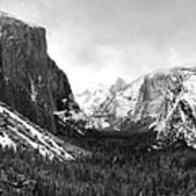 Yosemite Valley Not Clearing Winter Storm Art Print
