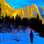 Yosemite Valley Winter Walk Art Print