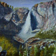 Yosemite Waterfall Art Print