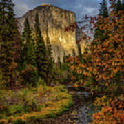 Yosemite's El Capitan In The Fall Art Print