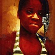 Young Black Female Teen 1 Art Print