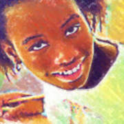 Young Black Female Teen 5 Art Print