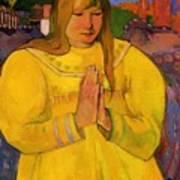 Young Christian Girl 1894 Art Print