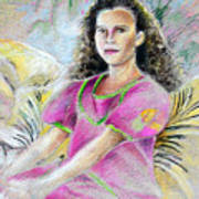 Young Girl From Tahiti Art Print