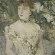 Young Girl In A Ball Gown By Berthe Morisot Art Print