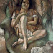 Young Girl In An Armchair Art Print