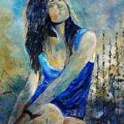 Young Girl In Blue Art Print