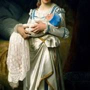 Young Lady And The Baby Art Print