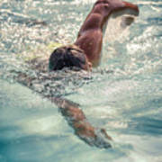 Young Man Swimming Art Print