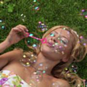 Young Woman Having Fun In Summer Art Print