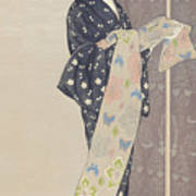 Young Woman In A Summer Kimono, 1920 Art Print
