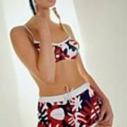 Young Woman In Mod Bikini Art Print