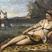 Young Women Of Sparta By Jean-baptiste-camille Corot, 1868-1870. Art Print
