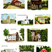 Youngstown Landmarks Montage 2 Art Print