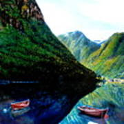 Your Life Is An Island Separated From All Other Islands And Continents Regardless Of How Many Boat Art Print