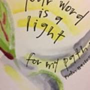 Your Word Is A Light Art Print
