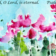 Your Word O Lord Art Print by Anne Duke