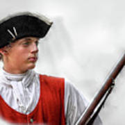 Youthful Soldier With Musket Art Print