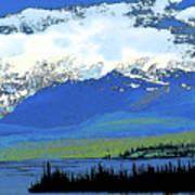 Yukon Mountain Range 3 Art Print