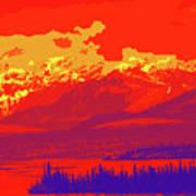 Yukon Mountain Range 4 Art Print